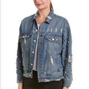 Elan Denim Jacket with Pearls